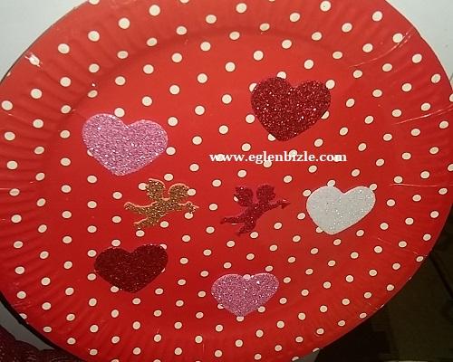 Kağıt Tabaktan Kalpli Dekoratif Tabak Yapımı