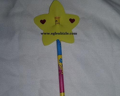 Yıldızlı Kalem Süsü Yapımı Resimli Anlatım
