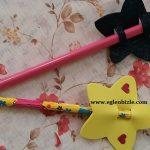 Yıldızlı Kalem Süsü Yapımı Videolu Anlatım