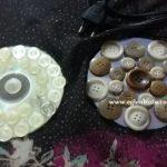 Cd ve Düğmelerle Dekoratif Süs Yapımı