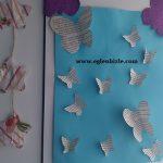 Kelebekli Pano Yapımı