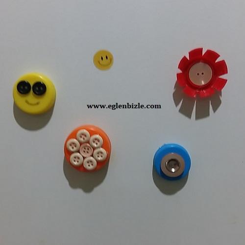 Plastik Şişe Kapağından Magnet