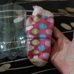 Çorap ile Dikişsiz Yapıştırıcısız Kaplama Yapımı