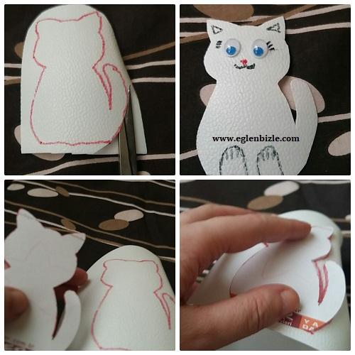 Ayran Kabı ile Kedi Yapımı Resimli Anlatım