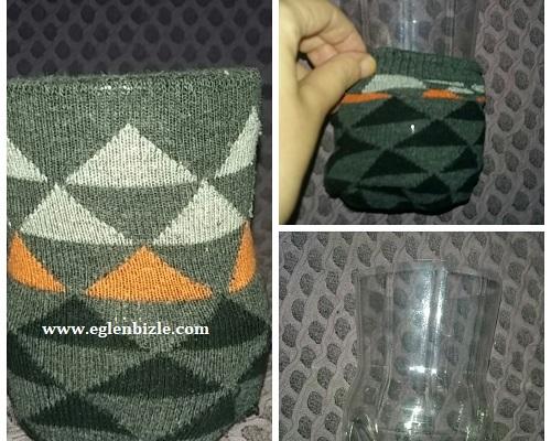 Pet Şişe ve Çorap ile Kalemlik Yapımı