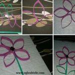 Tuvalet Kağıdı Rulosundan Çiçek Yapımı Resimli Anlatım-1