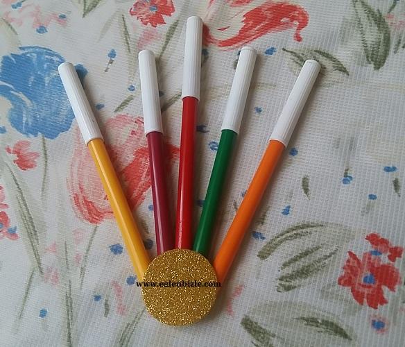 Eski Keçeli Kalemlerle Dekoratif Süs Yapımı-2