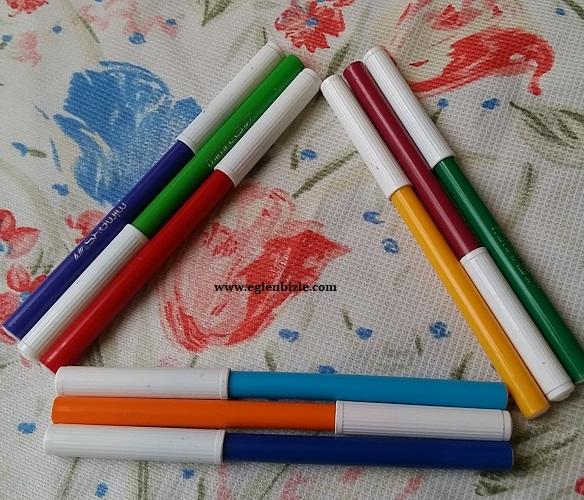 Eski Keçeli Kalemlerle Dekoratif Süs Yapımı-3