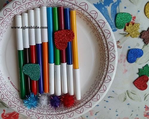Eski Keçeli Kalemlerle Dekoratif Süs Yapımı