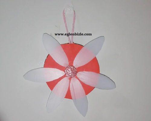 Kavanoz Kapağı ve Deterjan Kabından Dekoratif Çiçek Yapımı