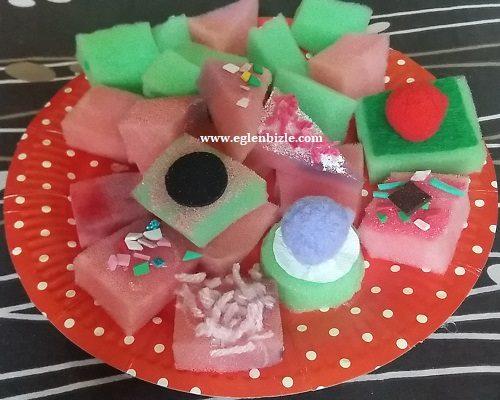 Sünger ile Oyuncak Kek Yapımı