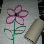 Tuvalet Kağıdı Rulosu ile Nasıl Çiçek Yapılır