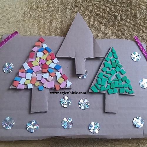 Karton ile Çam Ağacı Yapımı-1