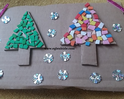 Karton ile Çam Ağacı Yapımı