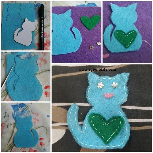 Keçe Kedi Yapımı Resimli Anlatım