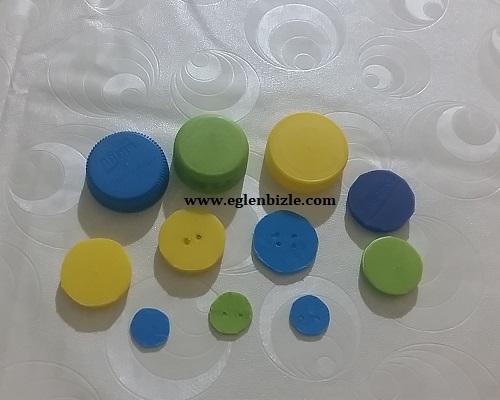 Pet Şişe Kapağı ile Düğme Yapımı