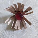 Tuvalet Kağıdı Rulosu ile Çiçek Yapımı