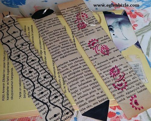 Gazete Kağıdından Kolay Kitap Ayracı Yapımı