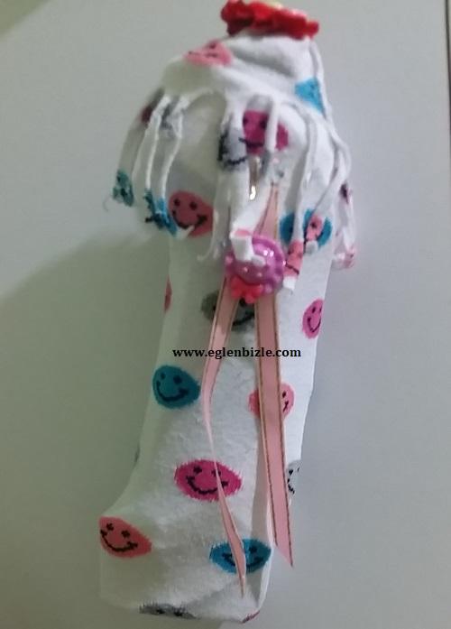 Çoraptan Bot Duvar Süsü Yapımı-1