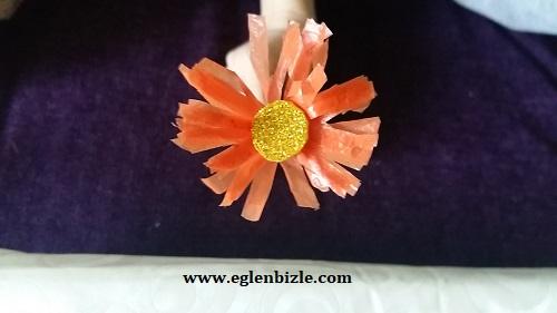 Poşet ile Çiçek Yapımı-1