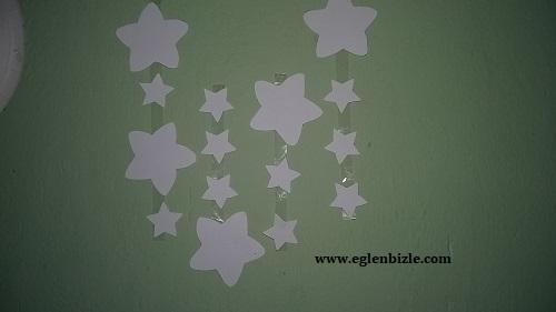 Defter Kapağı ile Yıldızlı Duvar Süsü Yapımı