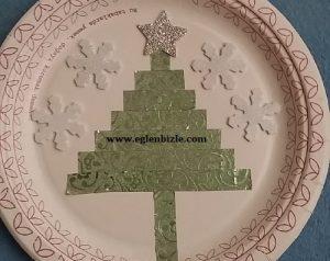 Karton Tabakla Çam Ağacı Süs Yapımı