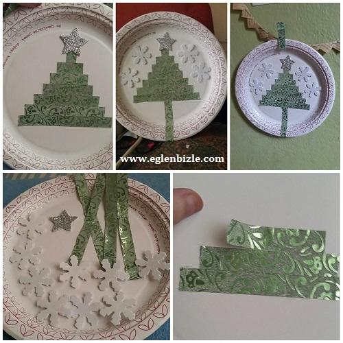 Karton Tabakla Çam Ağacı Süs Yapımı Resimli Anlatım
