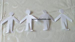 Kağıttan El Ele Tutuşan Çocuklar Nasıl Yapılır-1
