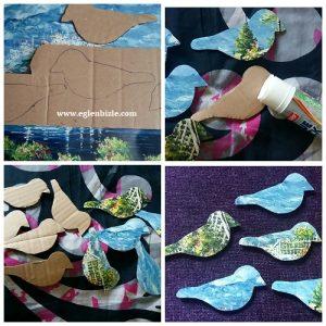 Karton ile Dekoratif Kuş Yapımı Resimli Anlatım