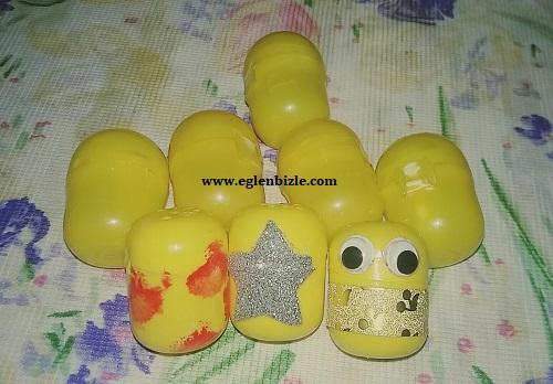 Sürpriz Yumurta Kutusundan Saklama Kabı Yapımı-1