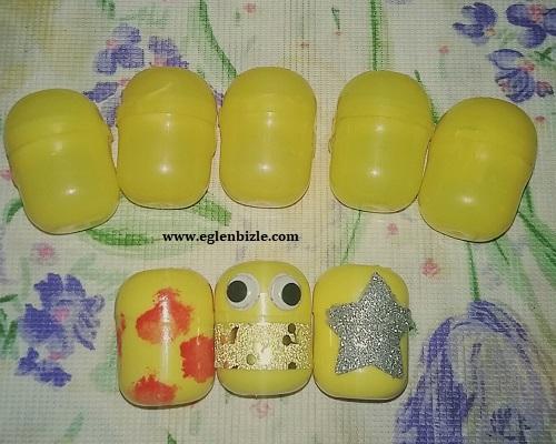 Sürpriz Yumurta Kutusundan Saklama Kabı Yapımı