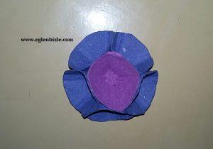 Yumurta Kolisi ile Büyük Çiçek Yapımı-1