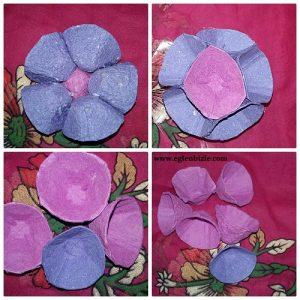 Yumurta Kolisi ile Büyük Çiçek Yapımı Resimli Anlatım