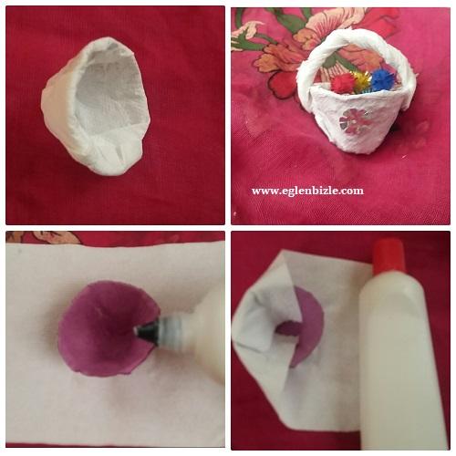 Yumurta Kolisi ile Minyatür Sepet Yapımı Resimli Anlatım