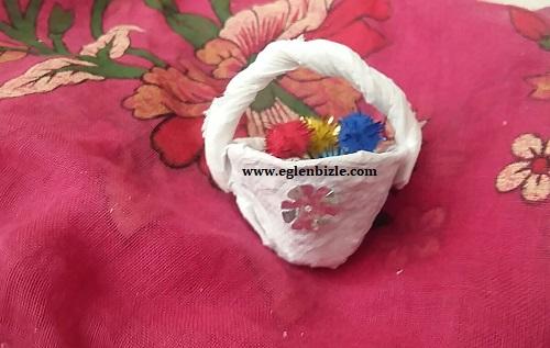 Yumurta Kolisinden Minyatür Sepet