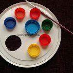Plastik Kapaklarla Resim Paleti Yapımı