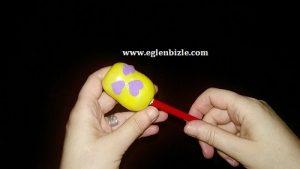 Sürpriz Yumurta Kutusundan Hazneli Kalemtraş Yapımı-1