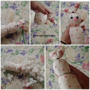 Çoraptan Tavşan Yapımı Resimli Anlatım