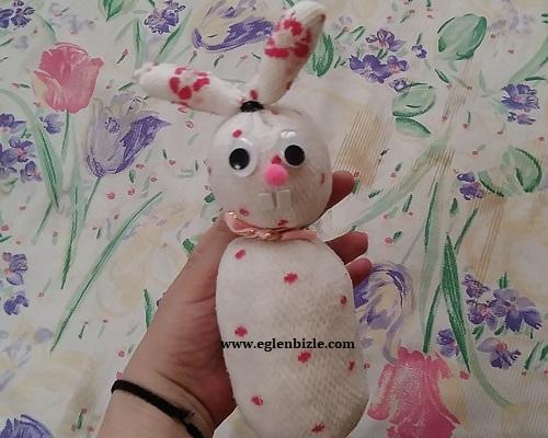 Çoraptan Tavşan Yapımı