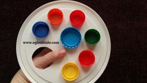 Plastik Kapaklardan Resim Paleti