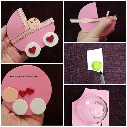 Bebek Arabası Magnet Yapımı Resimli Anlatım