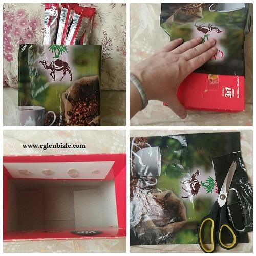 Kartondan Kahve Kutusu Yapımı Resimli Anlatım