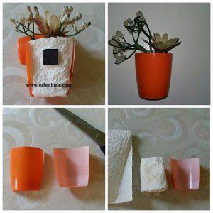 Meyveli Yoğurt Kabından Magnet Yapımı Resimli Anlatım