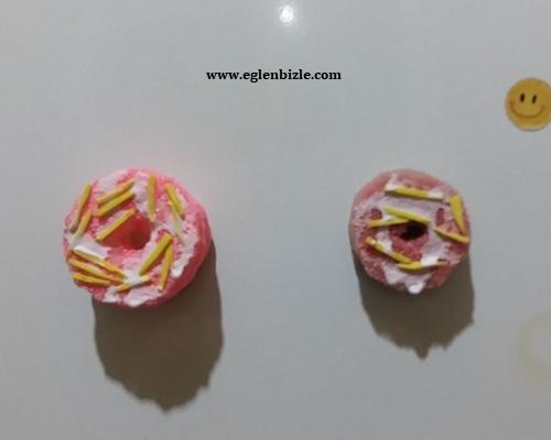 Süngerden Donut Magnet Yapımı