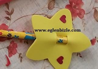 Yıldızlı Kalem Süsü Nasıl Yapılır-1