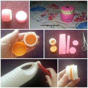 Plastik Şişe Kapakları ile Takı Kutusu Yapımı Resimli Anlatım