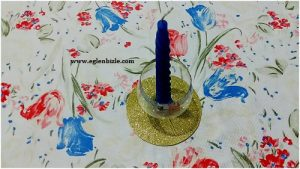 Pet Şişeden Dekoratif Mumluk