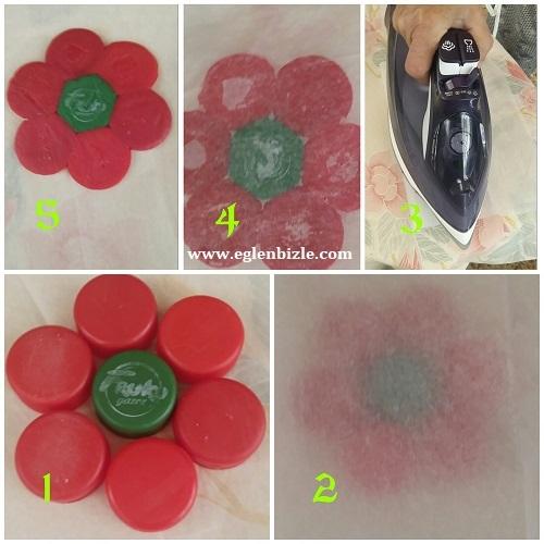 Çiçek Bardak Altlığı Yapımı Resimli Anlatım