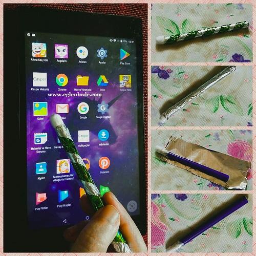 Tablet için Dokunmatik Ekran Kalemi Yapımı Resimli Anlatım