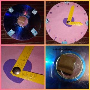 Cd ile Saat Yapımı Resimli Anlatım